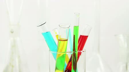 dyes : Multicolored solutions in the glass Stock Footage