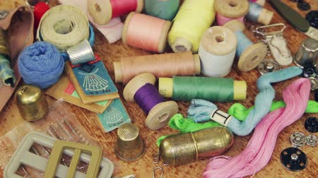 Various accessories and sewing tools