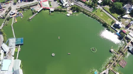aerial view of famous landscape pond of Liyu Tan at Puli, Nantou, Taiwan