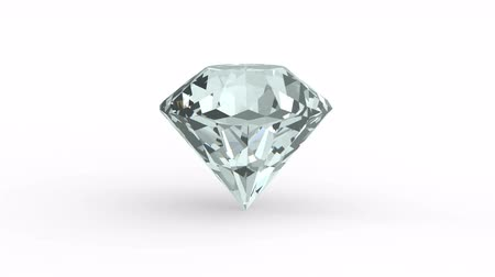 Perfect Diamond rotate isolated on white background Stok Video