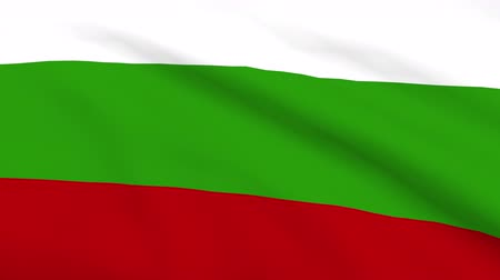 bolgár : Bulgarian flag waving on wind. Close up. 3D Rendering
