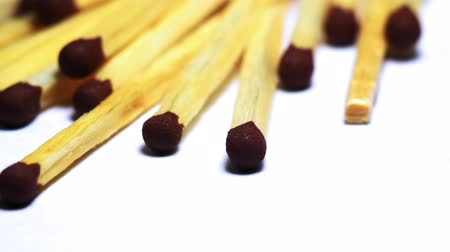 meggyullad : Wooden matches macro dolly shot