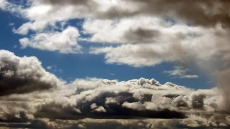 lapse : Time lapse of fast moving dramatic stormy clouds. No birds Stock Footage
