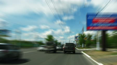 billboards : Fast driving timelapse in city