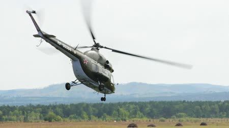 mi : CHITA, RUSSIA - AUGUST 19: Russian military helicopter Mi-2 at airshow . August 19, 2012