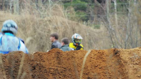 dirt : Enduro bike riders in Russia
