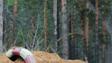 Enduro bike riders in Russia