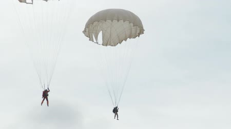 ordu : Extreme ultra low altitude parachute jump Stok Video