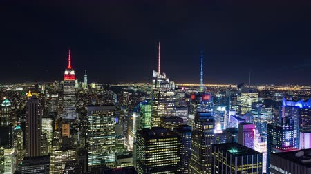 império : Empire State Building and Times Square Manhattan New York Night Timelapse
