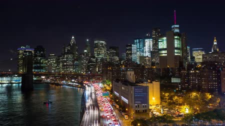 centrum : Lower Manhattan and FDR Drive New York City Night Timelapse