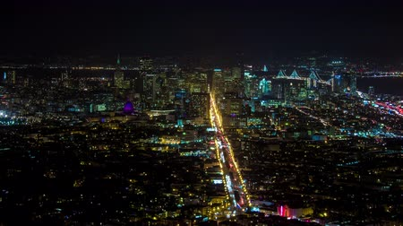 goldene : Innenstadt von San Francisco Night Timelapse Medium Videos