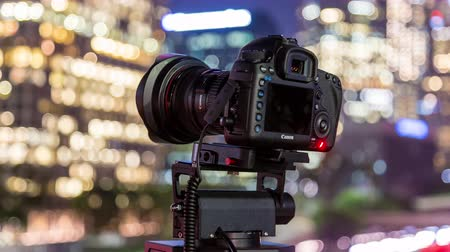us bank tower : Canon Camera Shooting Timelapse Photography on Pan and Tilt Head in Downtown LA