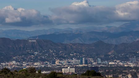 us bank tower : Hollywood and Hollywood Sign Day Timelapse with Clouds
