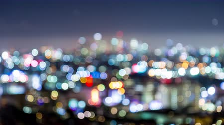 us bank tower : Downtown Los Angeles and Hollywood Bokeh Timelapse
