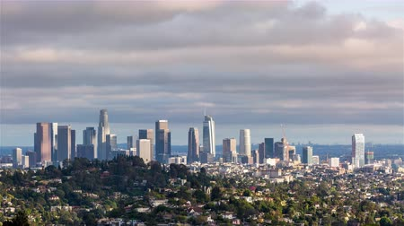 us bank tower : Downtown Los Angeles and Griffith Park Winter Day Timelapse