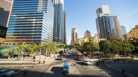 us bank tower : Downtown Los Angeles Street Day Timelapse