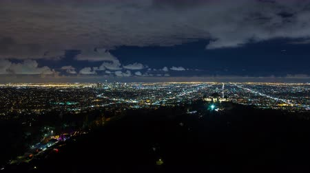 centrum : Downtown Los Angeles and Griffith Observatory Night Timelapse