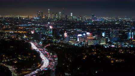 marmeláda : Los Angeles and Hollywood at Night Timelapse Medium