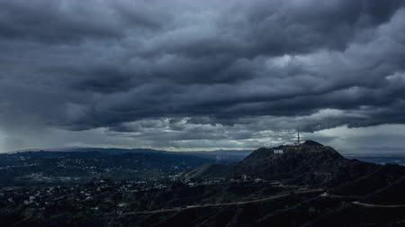 us bank tower : Hollywoods Hills Storm Clouds Timelapse