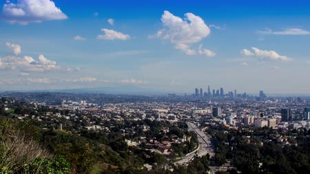 us bank tower : Los Angeles from Bowl Overlook Mulholland Timelapse