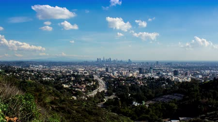us bank tower : Los Angeles view From Mulholland Scenic Overlook Day Timelapse