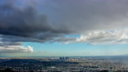 us bank tower : Los Angeles and Storm Clouds Day Timelapse