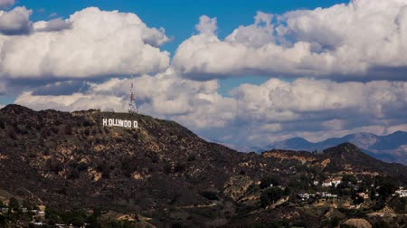 us bank tower : Hollywood Sign With Clouds Timelapse