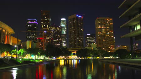 us bank tower : Downtown Los Angeles Skyline at Night