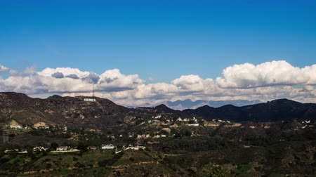 us bank tower : Hollywood Hills With Clouds Timelapse