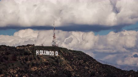 gün : Hollywood Sign Clouds Timelapse