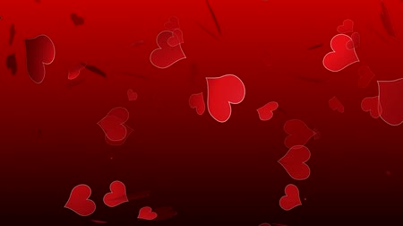 caído : background with red hearts