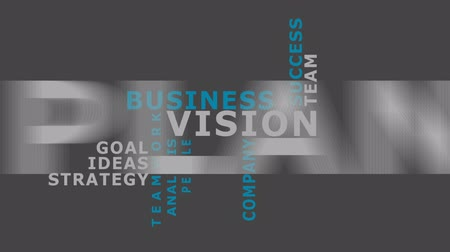 vizyon : Vision in business concept word tag cloud animation