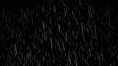 elszigetelt fekete : Rain on black background. High definition animation