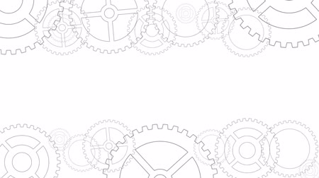 collaboration : Technology concept with gears on white background Stock Footage