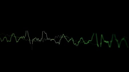 şıklık : Green music waves on a black background