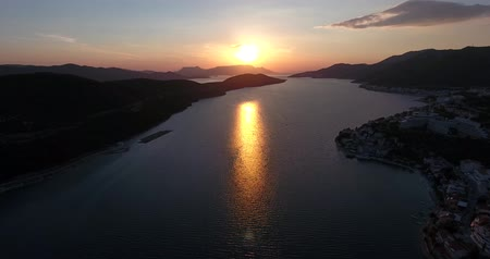rivera : Aerial footage of Neum at sunset...