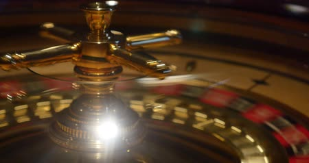 time machine : A 4K close up shot of a casino roulette in motion...