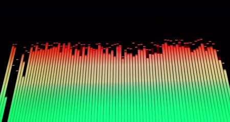Footage of colorful audio waves on a screen...