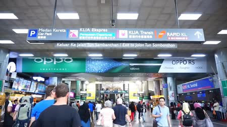kl sentral : KL SENTRAL, KUALA LUMPUR-MARCH 21. 2015:KL Sentral,Malaysias largest transit hub for public transport.The Malaysian Government has explained that the GST will not be imposed on public transportation.