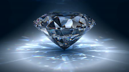 drágakő : Brilliant diamond in rotation. Seamless loop.  Stock mozgókép