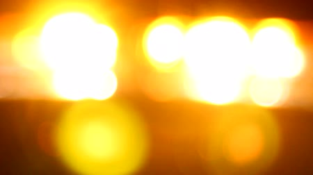 fire officer : Emergency lights flashing in the night Stock Footage
