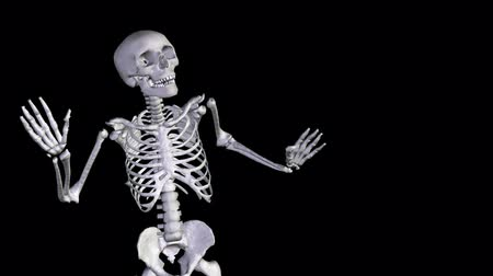 csontváz : Skeleton Disco Dancing - Zoom Out   Alpha Channel  CGI