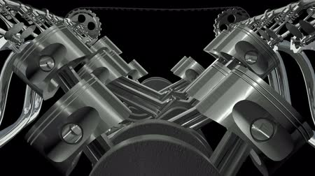 silnik : Twelve Cylinder V Motor Animation.  Seamless looping. Alpha channel appended.