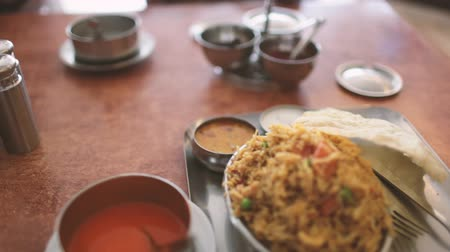 tikka : the food in vegetarian restaurants Stock Footage