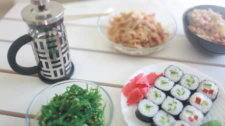 seafood dishes : vegetarian Japanese cuisine