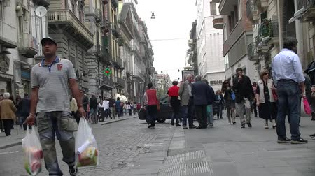 neapol : Naples Italy, Via Roma  Wideo