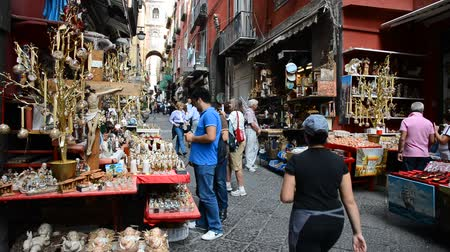 terracota : NAPLES - OCTOBER 30: San Gregorio Armeno in Naples is the way the world of the crib and every year it is visited by tens of thousands of tourists from around the world on October 30, 2013 in Naples