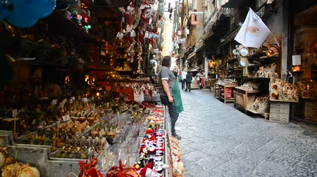terrakotta : NAPLES - OCTOBER 30: San Gregorio Armeno in Naples is the way the world of the crib and every year it is visited by tens of thousands of tourists from around the world on October 30, 2013 in Naples