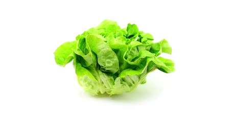 beslenme : lettuce rotate on white background