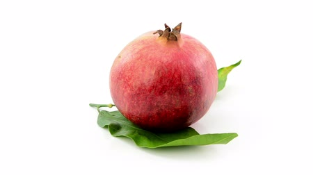 roma : pomegranate rotating on white background
